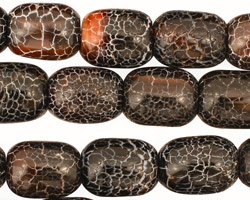 Black Spider Agate Barrel 14x10mm