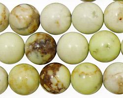 Lemon Chrysoprase (w/ matrix) Round 12mm