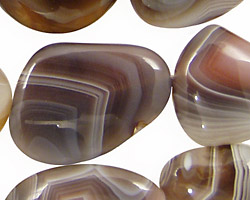 Botswana Agate Flat Freeform Slab 21-35x18-25mm