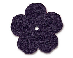 "TierraCast Purple Leather 1.25"" Flower 32mm"