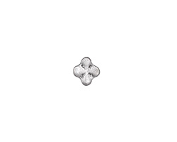 Zola Elements Antique Silver (plated) Quatrefoil 3mm Flat Cord Slide 8mm
