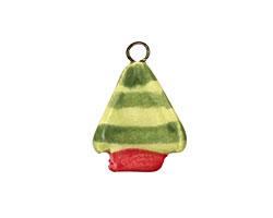 Jangles Ceramic Green Tree Charm 16-19x21-24mm