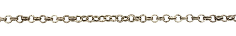 Antique Silver (plated) Every Other Etched Link Double Cable Chain