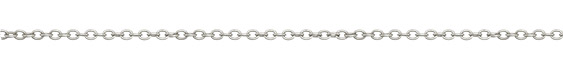 Silver (plated) Round Wire Cable Chain
