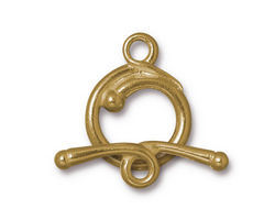 TierraCast Gold (plated) Renaissance Toggle Clasp 21x17mm, 27mm Bar