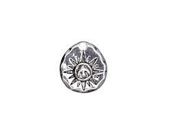 Zola Elements Antique Silver(plated) Peace Dove Wax Seal Charm 13x14mm