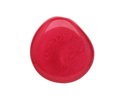 Tagua Nut Hot Pink Flat Pebble 35-45x28-37mm