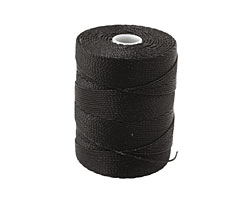 C-Lon Black Fine Weight (.4mm) Bead Cord