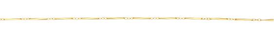 Satin Hamilton Gold (plated) Twisted Bar Chain