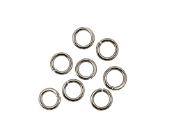 Gunmetal Round Jump Ring 6mm, 18 gauge
