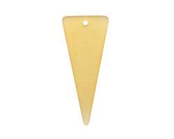 Desert Gold Recycled Glass Bottle Shard Slice 15-16x30-37mm