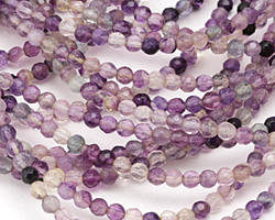 Rainbow Fluorite Faceted Round 4mm