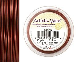 Artistic Wire Brown 22 gauge, 15 yards