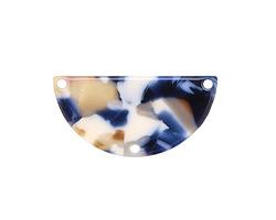 Zola Elements Twilight Acetate Half Circle Y-Connector 30x15mm