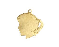 Brass Girl Profile 22mm