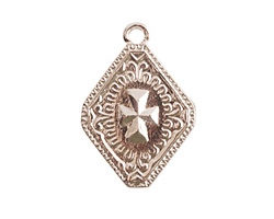 Nunn Design Sterling Silver (plated) Imperial Cross Charm 19x27mm