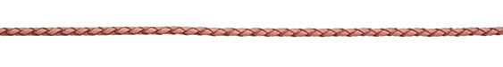 Pink Braided Leather Bolo Cord 3mm