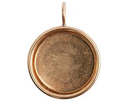 Nunn Design Brass Small Deep Circle Bezel 26x34mm