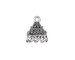 Zola Elements Antique Silver (plated) Pyramid Tassel Cap 14x17mm