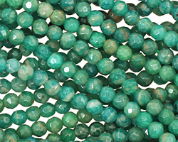 Russian Amazonite Faceted Round 4mm