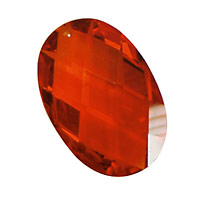 Poppy Faceted Oval 20x30mm