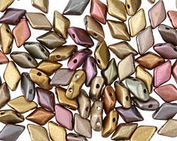 Matte Metallic Gold Copper Iris GemDuo 8x5mm Seed Bead
