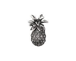 Zola Elements Antique Silver (plated) Pineapple Drop 3mm Flat Cord Slide 15x23mm