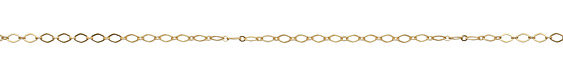 Satin Hamilton Gold (plated) Flat Diamond Chain