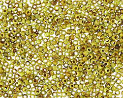 TOHO Frosted Sour Apple Picasso Hybrid Round 11/0 Seed Bead