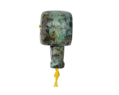 African Turquoise (A) Barrel Guru Bead 20mm