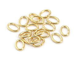 Gold (plated) Oval Jump Ring 7x5mm, 18 gauge