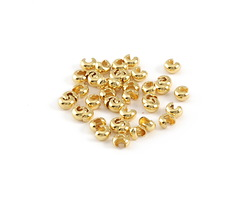 Gold (plated) Crimp Cover 3mm