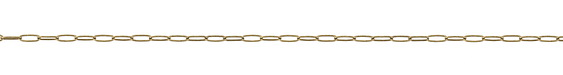 Antique Brass (plated) Medium Paperclip Chain