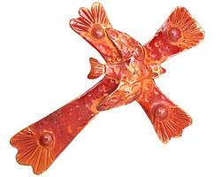 Patricia Healey Copper Cross w/ Peace Dove Pendant 46x65mm