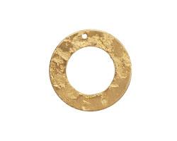 Brass Textured Ring 22mm