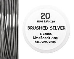 Parawire Non-Tarnish Brushed Silver 20 Gauge, 6 Yards