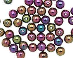 Czech Glass Iris Purple Round 6mm
