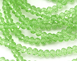 Peridot Crystal Faceted Rondelle 3mm