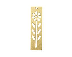 Brass Tall Flower Stencil 12x48mm