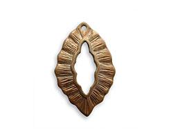 Vintaj Natural Brass Leaf Toggle Ring 25x16mm
