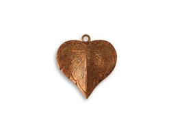 Vintaj Artisan Copper Classic Nouveau Leaf Charm 16x17mm