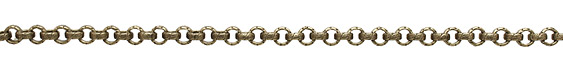 Antique Brass (plated) Vintage Pattern Rollo Chain