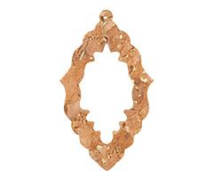 Natural w/ Metallic Gold Flecks Cork Bali Chandelier Cutout Focal 37x63mm
