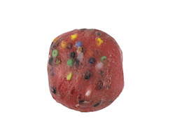 African Powder Glass Coral Confetti Large Round Bead 22-23mm