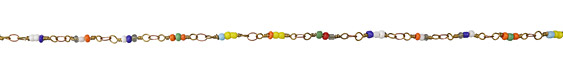 Zola Elements Multi Color Seed Bead Link Brass Chain