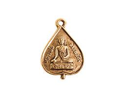 Nunn Design Antique Gold (plated) Buddha Charm 16x23mm