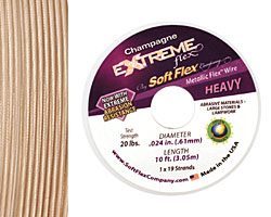 "Soft Flex Extreme Champagne .024"" (Heavy) 19 Strand Wire 10ft."