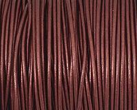 Maroon (metallic) Round Leather Cord 1.5mm