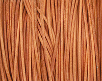 Natural Orange Round Leather Cord 1.5mm