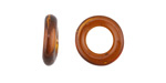 African Recycled Glass Coffee Dogun Mini Ring 10-15mm